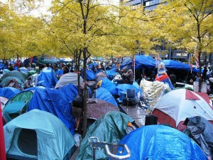 Tents in Zuccotti Park